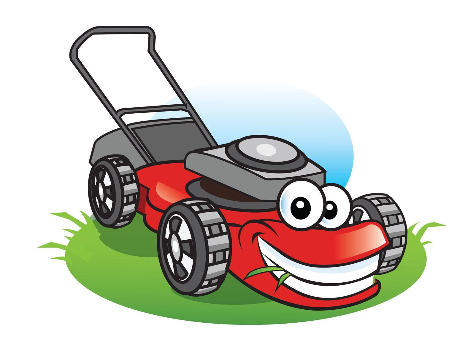 free cartoon lawn mower clipart - photo #13